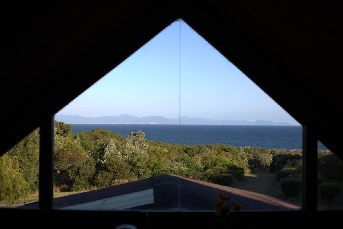 View from picture windows at Wirrega, looking towards Wilsons Promontory National Park