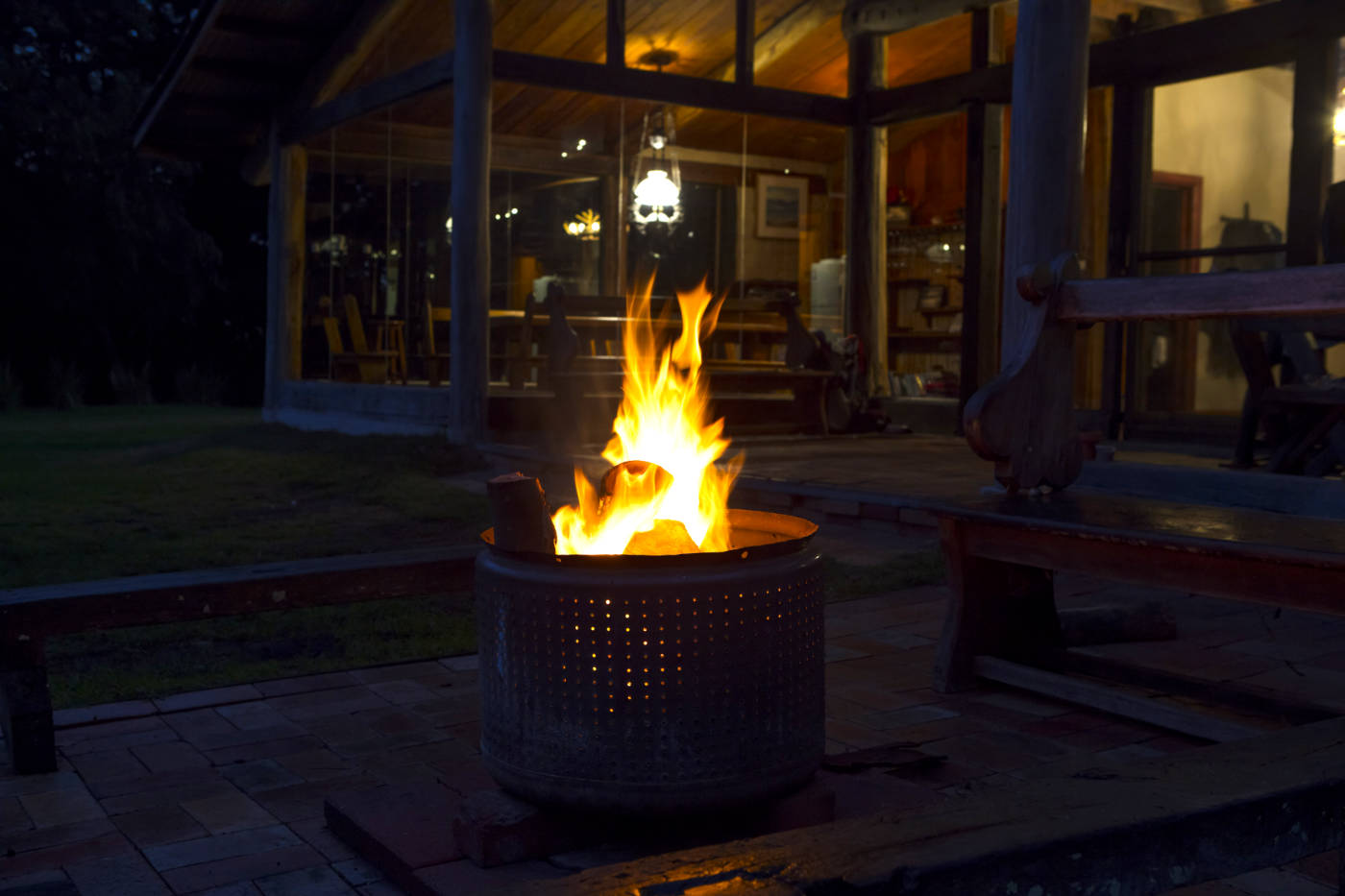 Outdoor fire pit at Wirrega Bear Gully