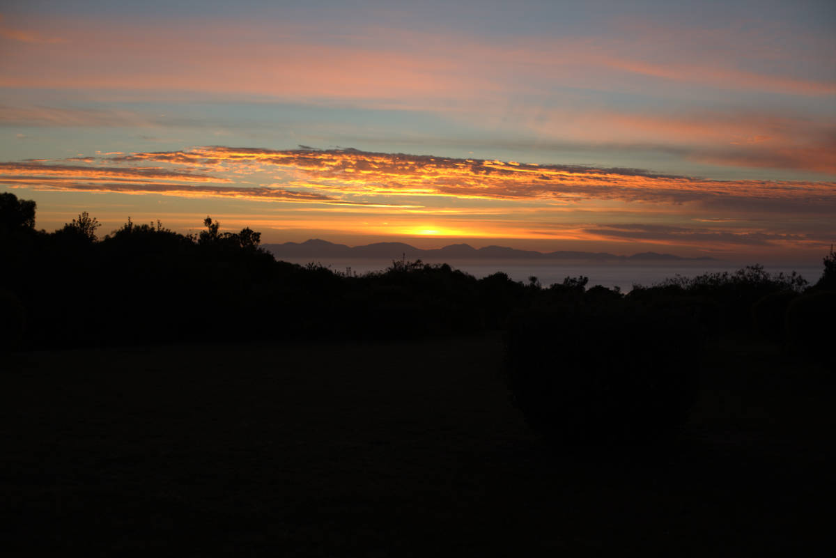 Sunset from Wirrega Bear Gully accommodation